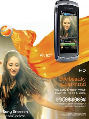 Kareena Kapoor in Sony Ericsson Mobile Phone ad