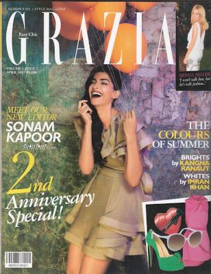 Sonam Kapoor on Grazia Magazine