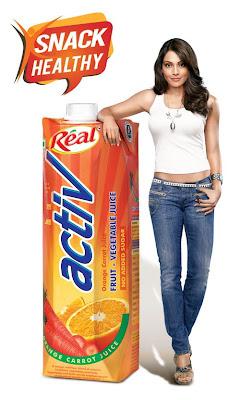 Bipasha Basu promotes Dabur Real Activ Juice