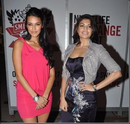 , Neha Dhupia & Jacqueline Fernandez at Smirnoff Nightlife Event