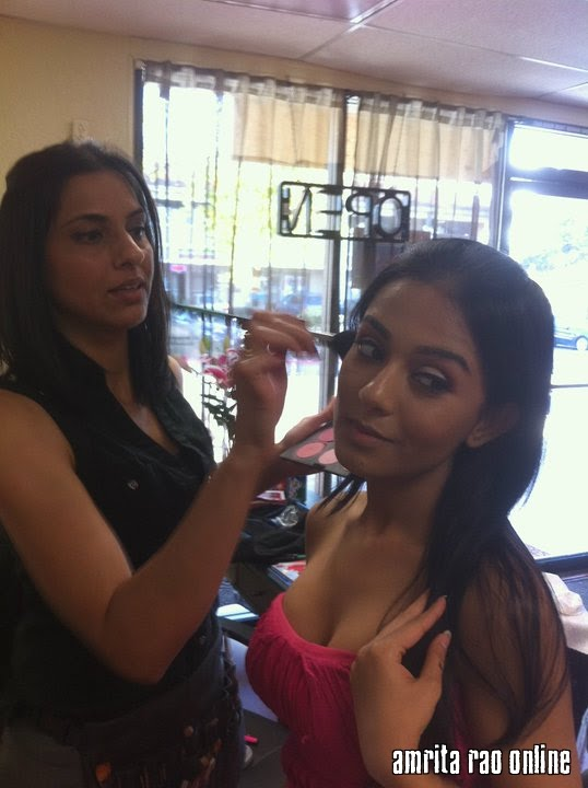 Amrita Rao with Make Up Artist