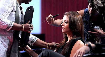 Aishwarya Rai Bachchan on the sets of Koffee with Karan