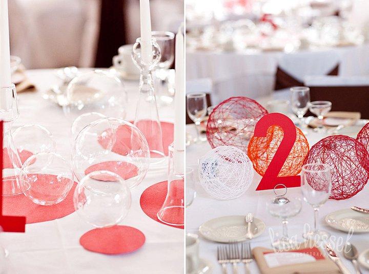 Декор на свадебный стол гостей своими руками 70