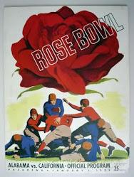 1938 Rose Bowl Program vs. California