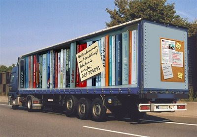 books in truck