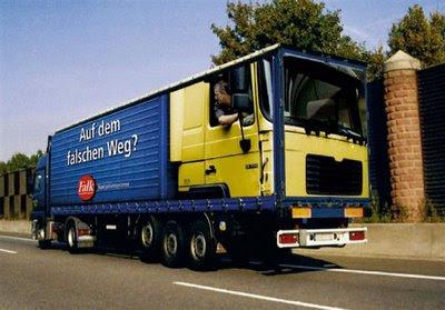 truck advert on truck
