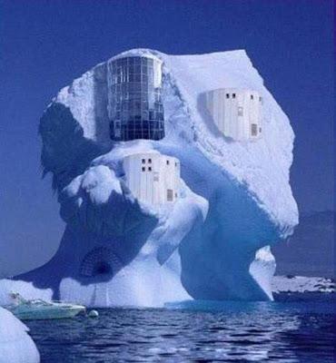 house on ice