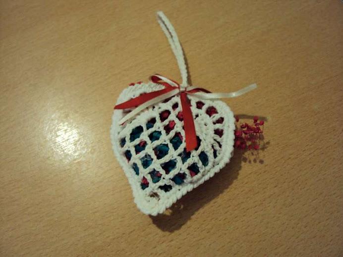 corazon canastita con popurri souvenirs
