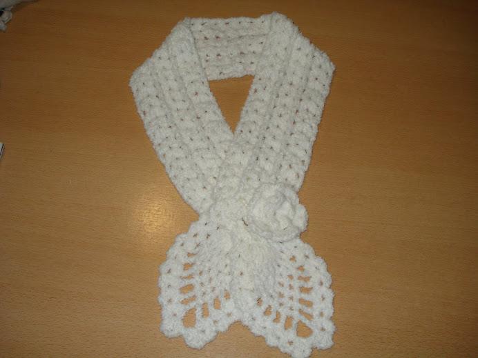 chalina de lana blanca