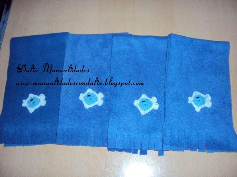 bufanda polar con aplique