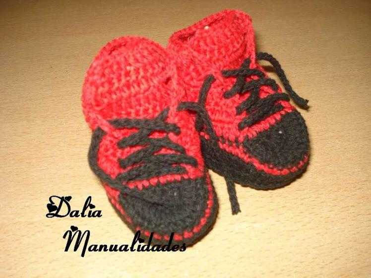 zapatillas de hilo para bebes