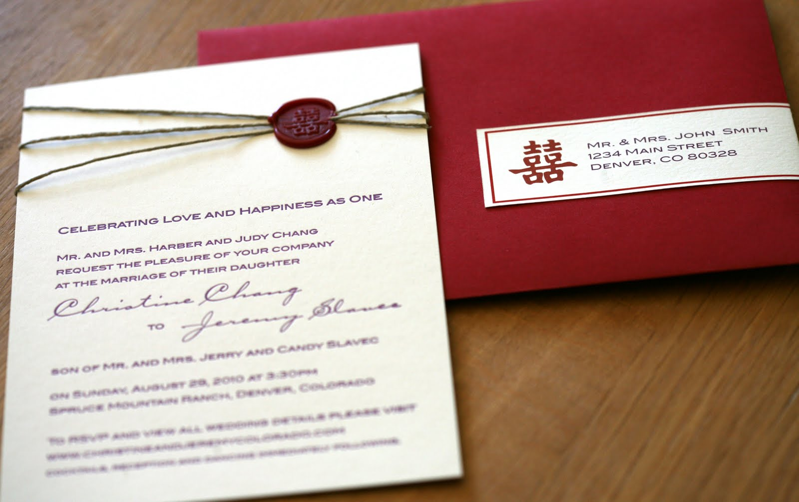 happiness is aidan: {Wedding Invitation} Wax Seal 火潻印