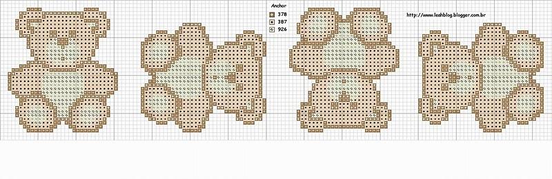 Медведь рисунок для вязания 17