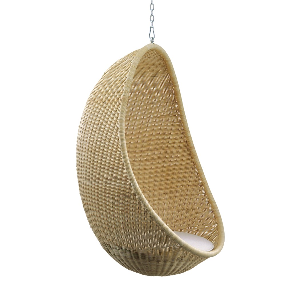 Charming Hanging Armchair With A Lacquered Steel Frame Ring. The Weaving Is  Available In Wicker Natural Or Stained As Per Sample Range, In Polycore  Honey Colour.