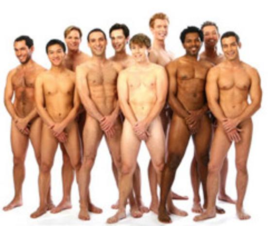naked men holding their dicks