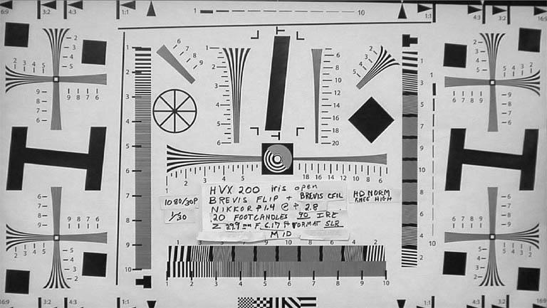 HVX200 Brevis test chart.