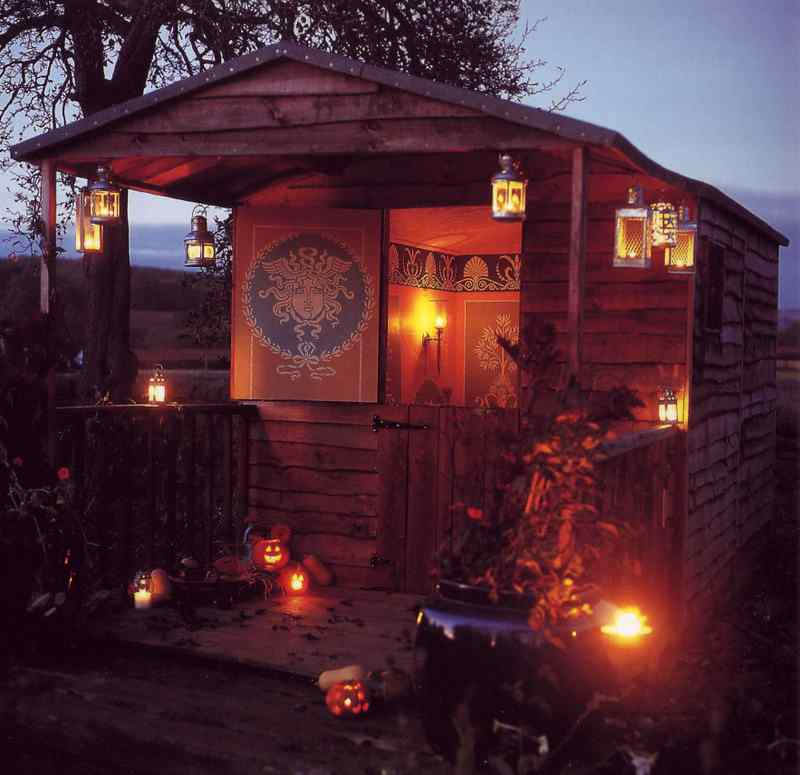 Shedworking Robert Adam Inspired Stencil Shed
