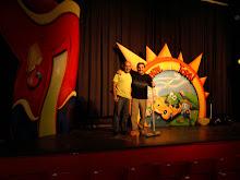 con DIEGO TOPA ,animador infantil de PLAY HOUSE DISNEY