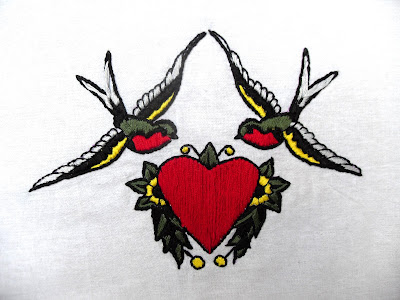Tattoo flash embroideries