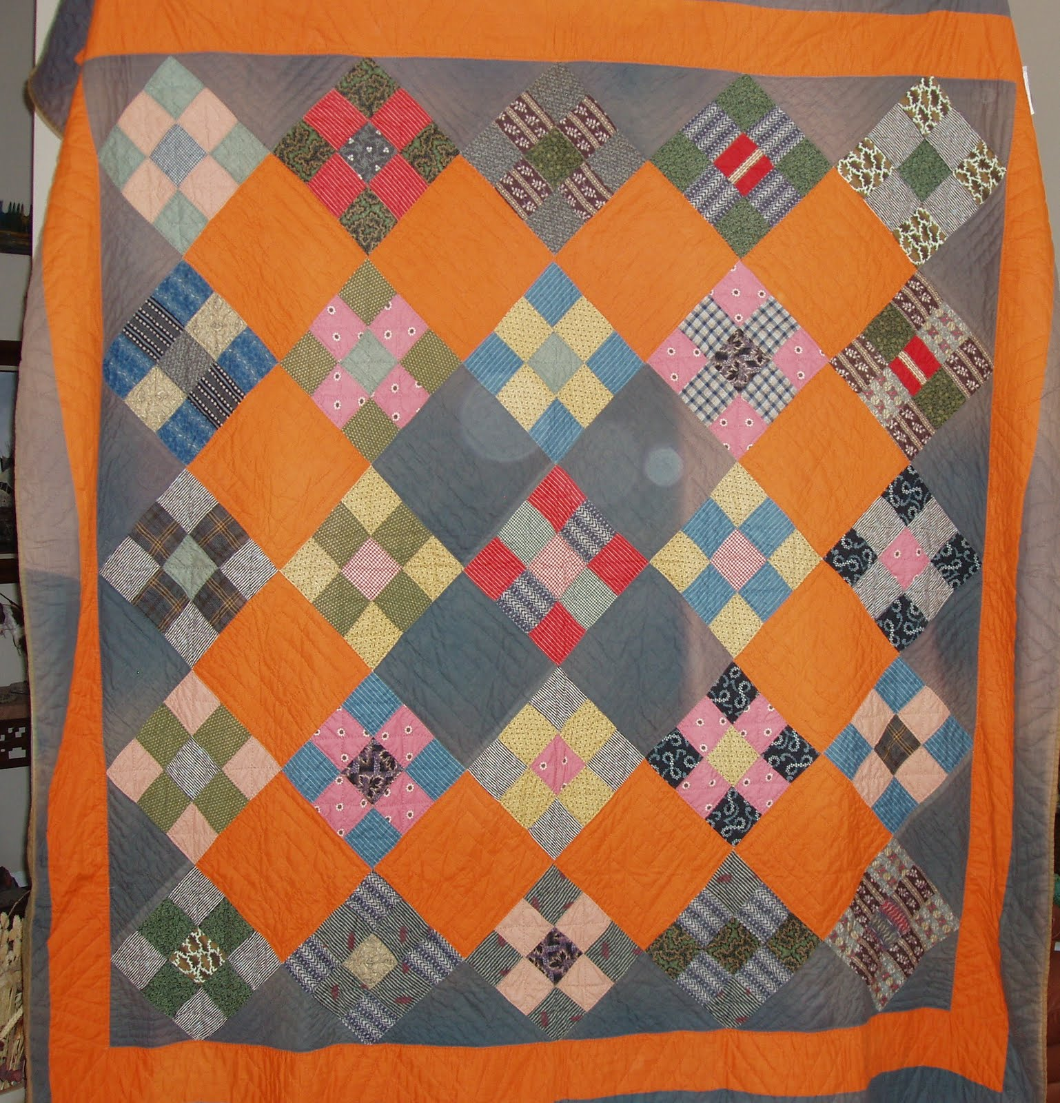 tanya dsc orange gray quilt lap quilts sized richard and