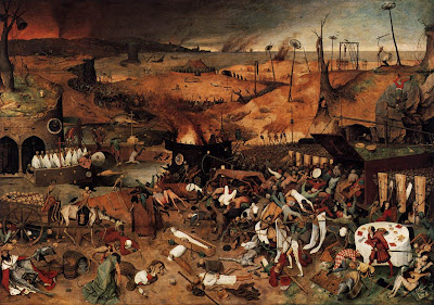 'The Triumph of Death' by Pieter Breugel the Elder. From the public domain and the Wikimedia commons.