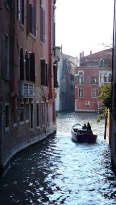 Tiny waterway in Venice