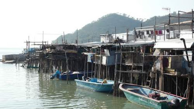 Image of Tai O fishing village on Lantau Island, Hong Kong.