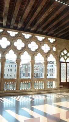 Gothic meets Venetian Renaissance in Ca D'oro, Venice.