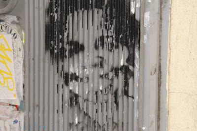 Graffiti image of Michael Jackson from the old town centre of Genoa, Italy.