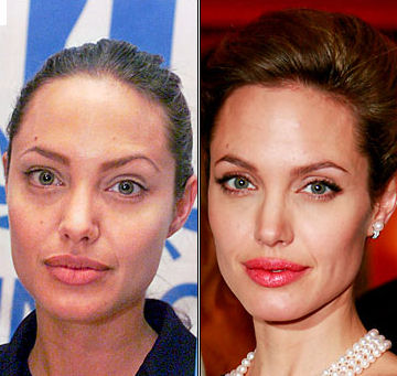 Celebrity Without Make up. Celebs with no makeup and retouching for magazine