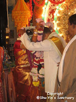 exchanging garlands