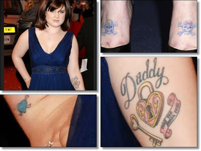 "Kelly is such a fan of father Ozzy she even got ""Daddy"" tattoed on the"