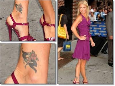 nicole richie tattoo. Nicole Richie Ankle Tattoo.