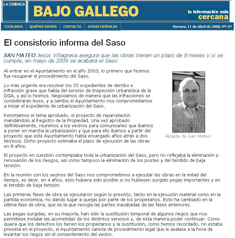 El blog de san mateo de g llego un poco de historia - El tiempo en san mateo de gallego ...