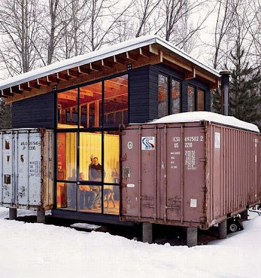 Anyone have seen a shipping container house office priuschat - Shipping container home kit ...