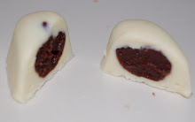 White Chocolate with Dark Chocolate with Hazelnuts Filling