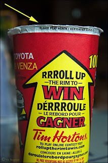 Tim Hortons Coffee Shop Roll up the Rim to Win | april fools prank