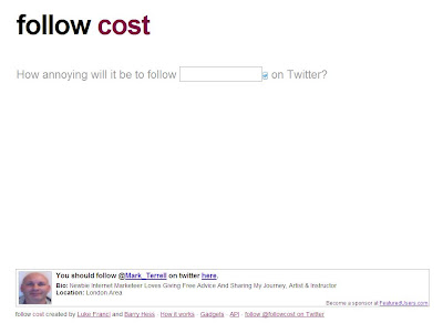 Follow Cost - Twitter Tracker Web Application