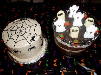 Crave. Indulge. Satisfy.: Creepy Crawly Cake & Graveyard Trifle