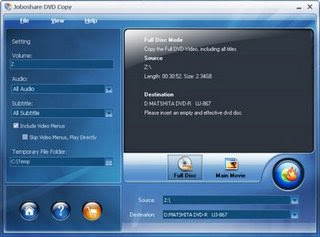 Joboshare DVD Copy 2.3.7.0426