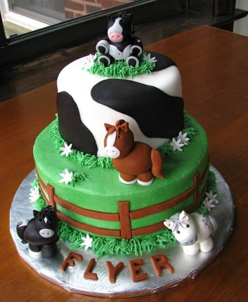 Easy Cow Cake Design : Horse Birthday Cakes - Best Collections Cake Recipe