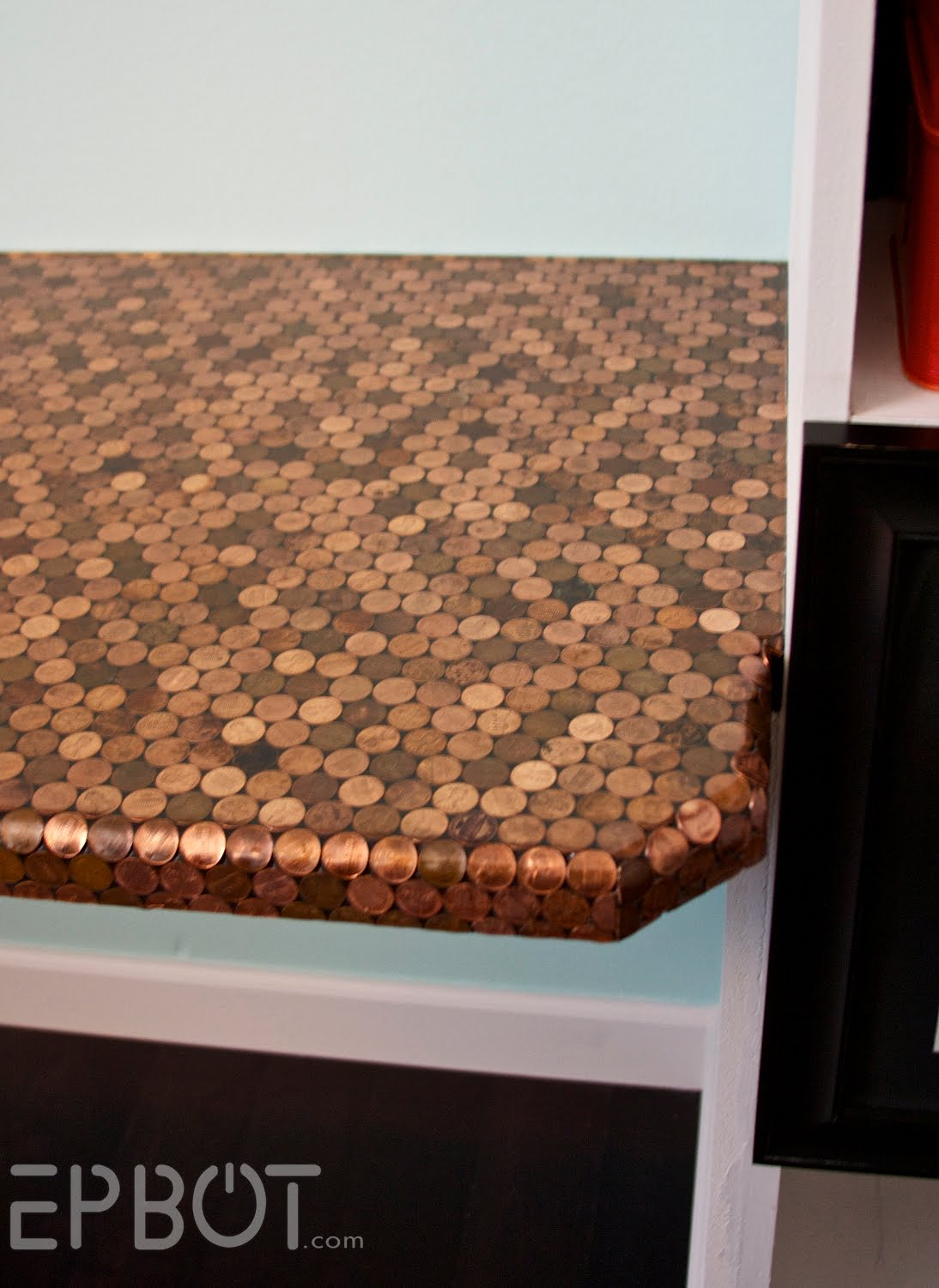 Penny Kitchen Floor Penny Flooring 7 Creative Uses For Pennies Around The House
