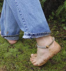 Barefoot hiking can lure you into whole new worlds... ...