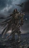 рыцарь с двумя мечами на поле смерти