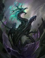 вылупившийся из хрустального яйца дракон тьмы