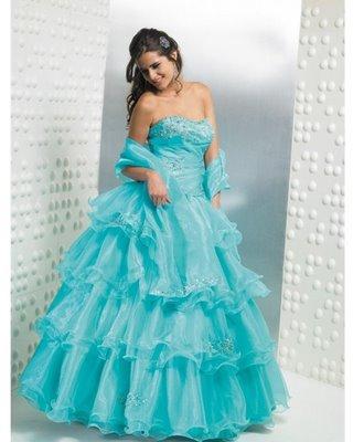 Imagenes de vestidos color azul agua