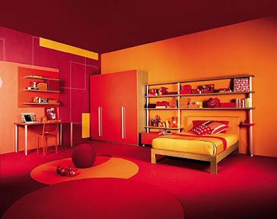 Cameretta Arancione E Blu : Kitchen pantry cabinet: camerette in rosa: i colori preferiti dalle