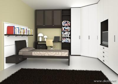 Arredamenti diotti a f il blog su mobili ed arredamento - Camera da letto con cabina armadio ad angolo ...