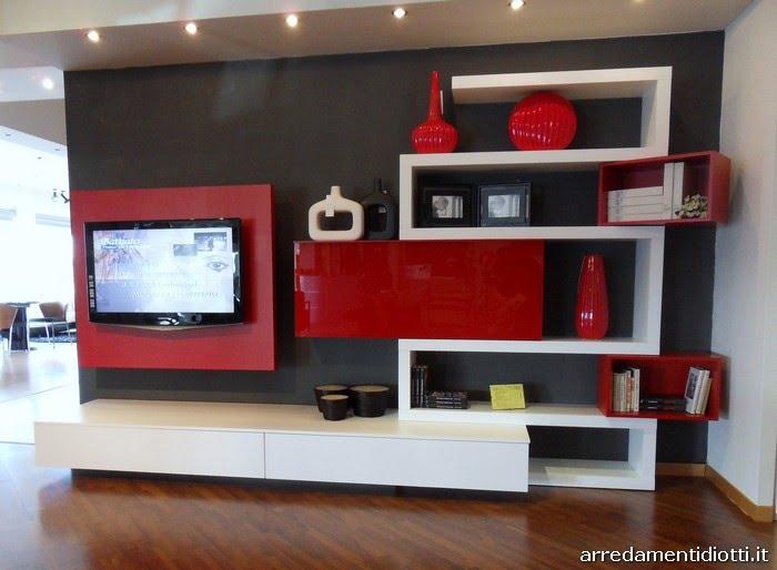 Arredamenti diotti a f il blog su mobili ed arredamento d 39 interni il soggiorno moderno entra for Tv panel designs for living room