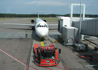 Lentokone parkissa